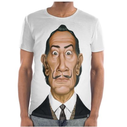 Salvador Dali Celebrity Caricature Cut and Sew T Shirt