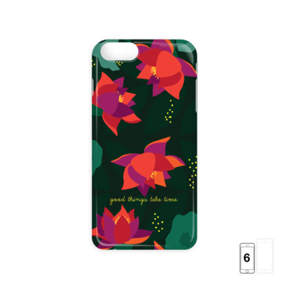 Midnight Flowers - inspirational quote -iPhone 6 Case