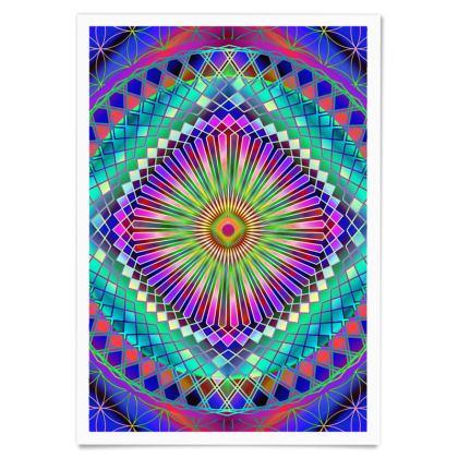 Paper Posters Sun Mandala