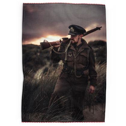 Tea Towel, Soldier in a field