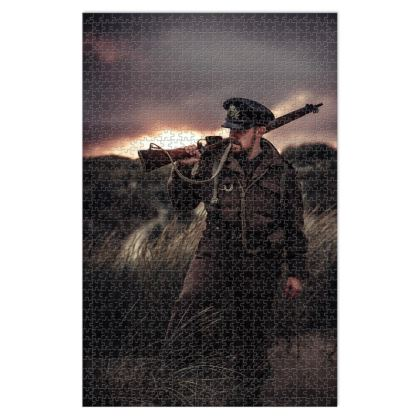 Jigsaw Puzzle, Soldier in a field