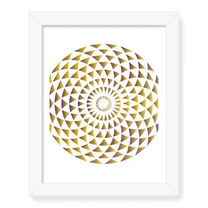 Framed Art Prints Gold Mandala Torus