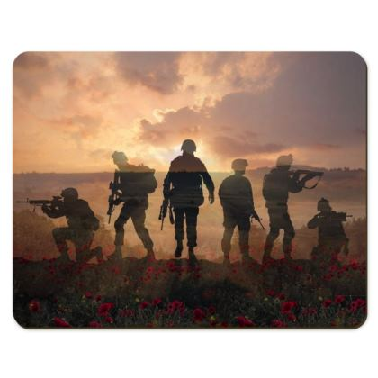 Placemats, Soldiers in a field of poppies