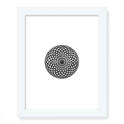 Framed Art Prints Mandala Torus Handddrawing