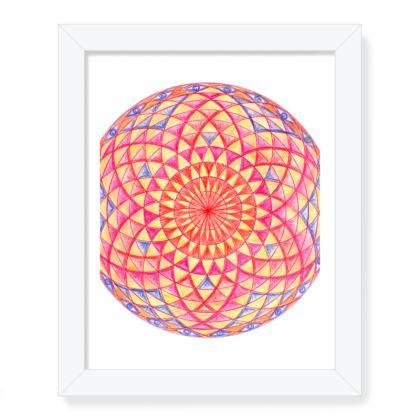 Framed Art Prints Colorful Mandala Torus