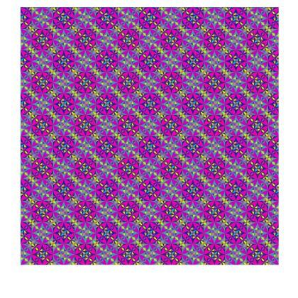 Slip Dress Purple Pattern