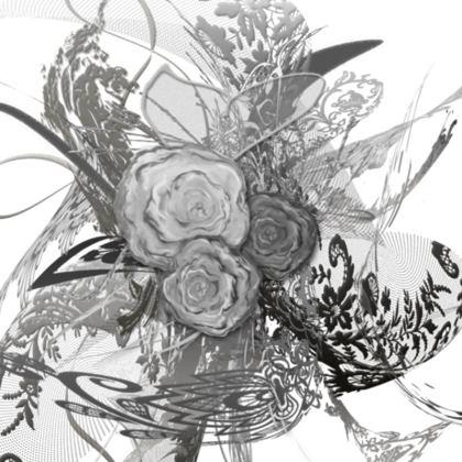 Cushion - Kudde - 50 shades of lace Grey White