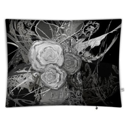 Floor Cushion - Golvkudde - 50 shades of lace grey black