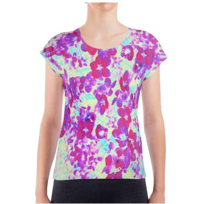 Ladies T Shirt Spring Flowers