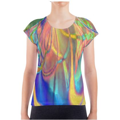 Ladies T Shirt abstract Painting