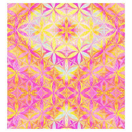 Ladies T Shirt Kaleidoscope Flower Of Life