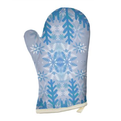 Baby blue snowflakes patterns