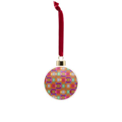 Geometrical Shapes Collection Bone China Baubles
