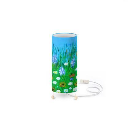 Lampe tube fleurie