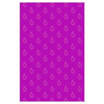 Paisley Drops On Purple Slip Dress