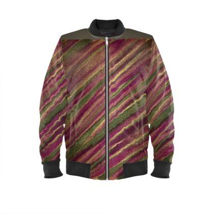 Bomber Jacket. Warm Autumnal colours