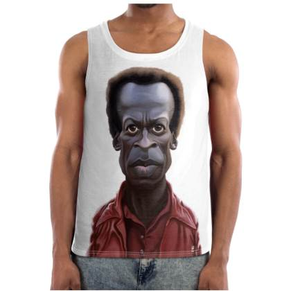 Miles Davis Celebrity Caricature Cut and Sew Vest