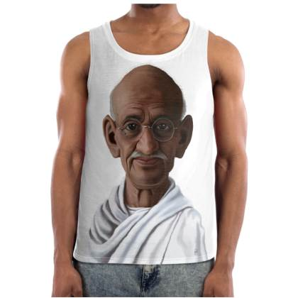Mahatma Gandhi Celebrity Caricature Cut and Sew Vest