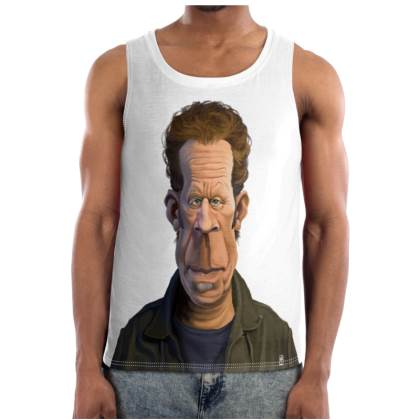 Tom Waits Celebrity Caricature Cut and Sew Vest