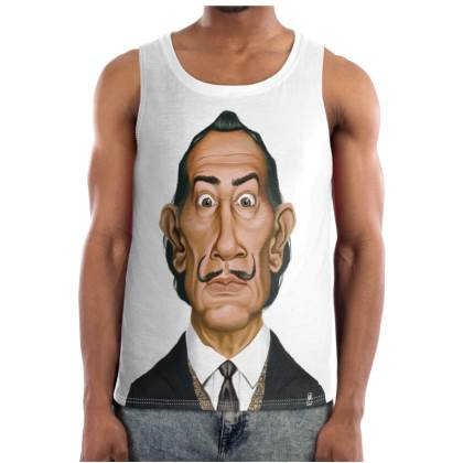 Salvador Dali Celebrity Caricature Cut and Sew Vest