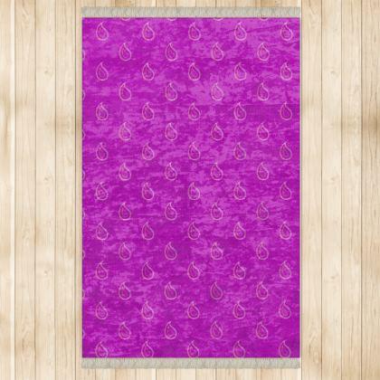 Paisley Drops on purple Rugs