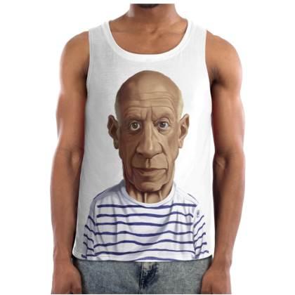 Pablo Picasso Celebrity Caricature Cut and Sew Vest