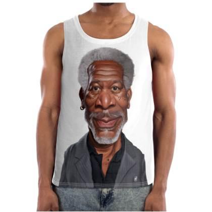 Morgan Freeman Celebrity Caricature Cut and Sew Vest