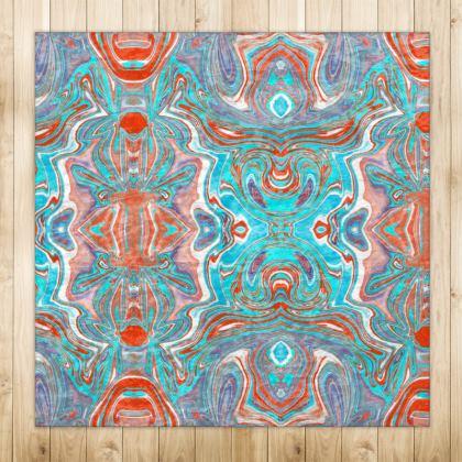 Velvet Rug in Digital Batik Design