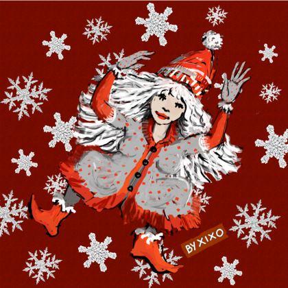 Santa Claus Cushion Red