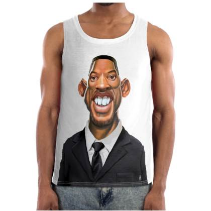 Will Smith Celebrity Caricature Cut and Sew Vest