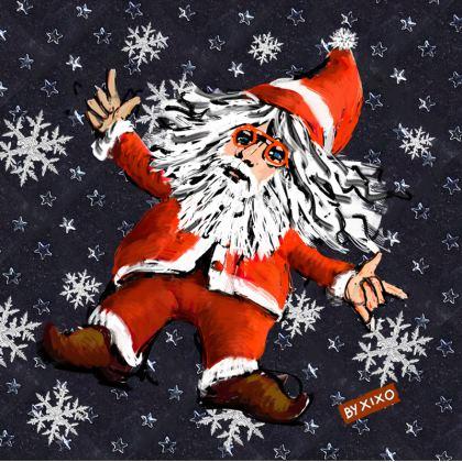 Santa Claus Cushion Red and blue