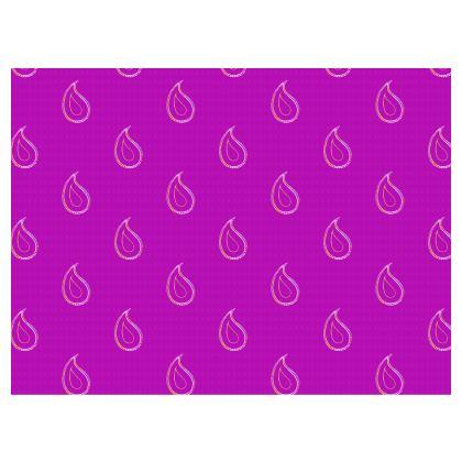 Paisley Drops on purple Espadrilles