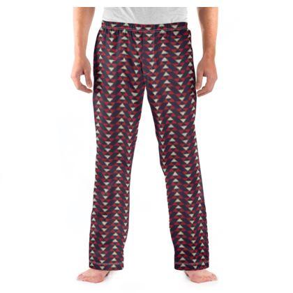 Mens Pyjama Bottoms Mayan Pattern 3
