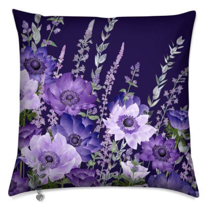The Evening Anemone Patch Cushion