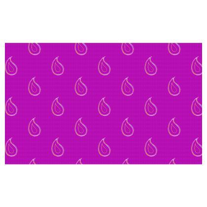 Paisley Drops on purple Zip Top Handbag