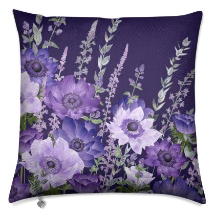 The Evening Anemone Patch Luxury Cushion
