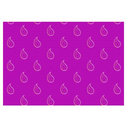 Paisley Drops on purple Occasional Chair