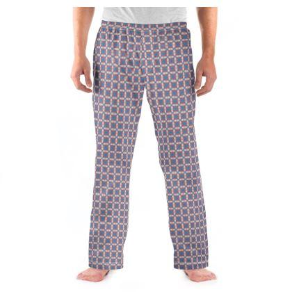Mens Pyjama Bottoms Tile Pattern