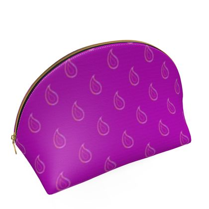 Paisley Drops on purple Shell Coin Purse