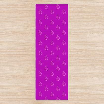 Paisley Drops on purple Yoga Mat