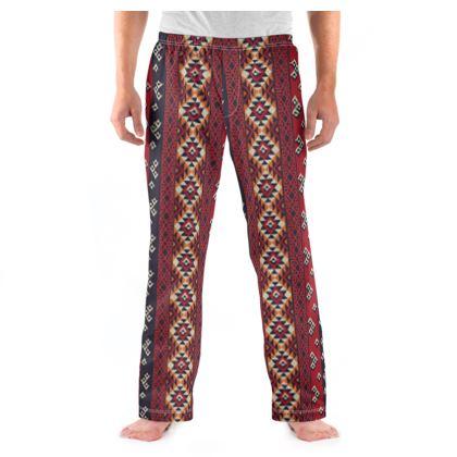 Mens Pyjama Bottoms Mayan Pattern 5