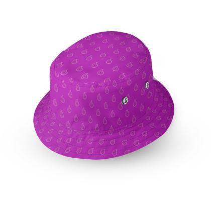 Paisley Drops on purple Bucket Hat