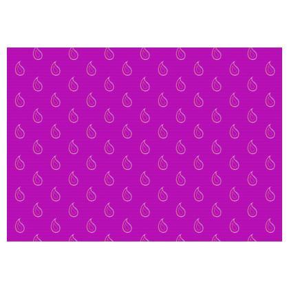 Paisley Drops on purple Flared Skirt