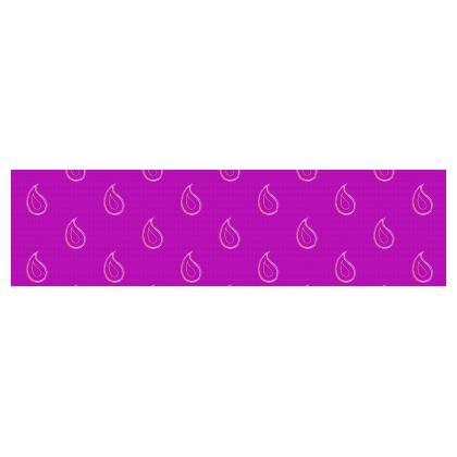 Paisley Drops on purple Drum Lamp Shade