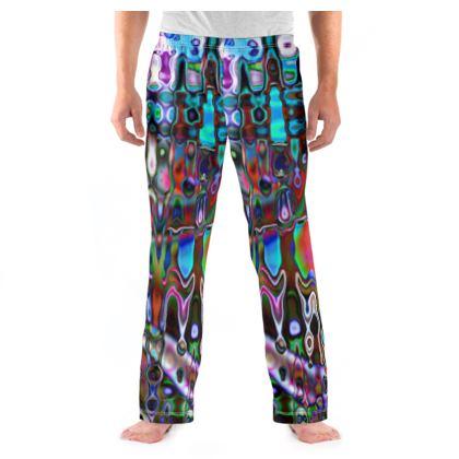 Mens Pyjama Bottoms Splashes Pattern 3