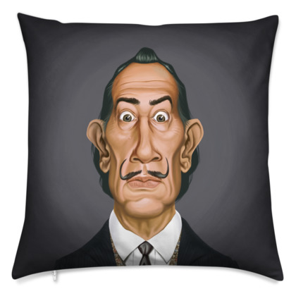 Salvador Dali Celebrity Caricature Cushion