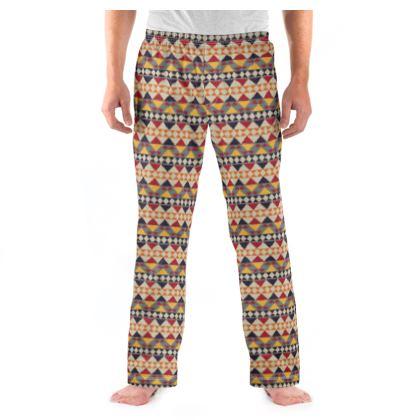 Mens Pyjama Bottoms Mayan Pattern 7