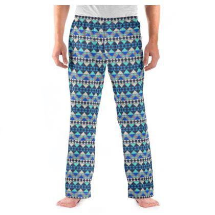 Mens Pyjama Bottoms Mayan Pattern 8