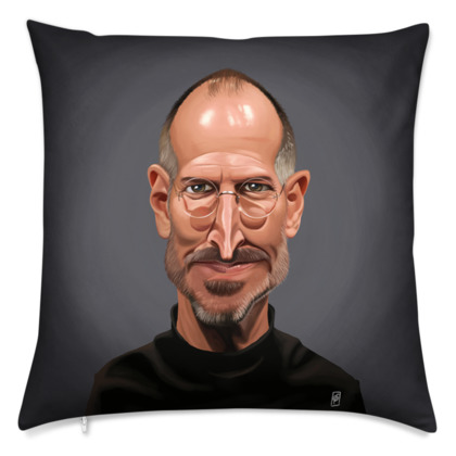 Steve Jobs Celebrity Caricature Cushion