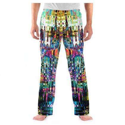 Mens Pyjama Bottoms Splashes Pattern 5